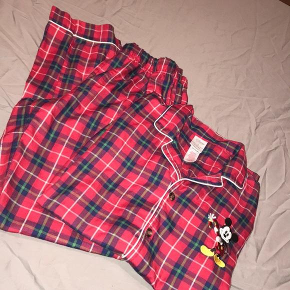 disneys plaid christmas pajamas set small - Plaid Christmas Pajamas